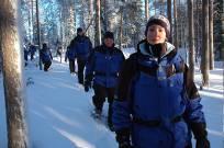 Snowshoe wandeling