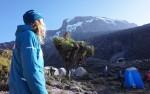 zicht op de kilimanjaro vanuit Barranco camp